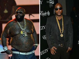 Rick Ross (Rick Diamond); Young Jeezy (Prince Williams/Getty Images)