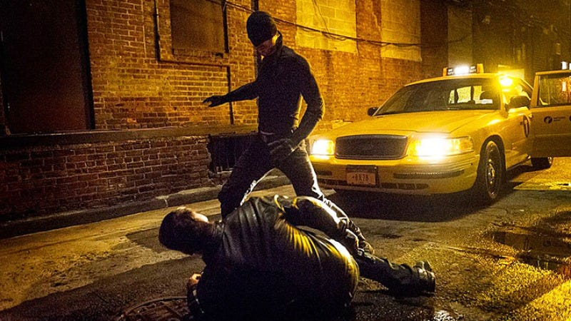 Inspired by Chumbawamba, Daredevil gets knocked down, then back up again