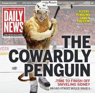 Illustration for article titled Philadelphia Daily News Puts 'The Cowardly Penguin' On Its Cover