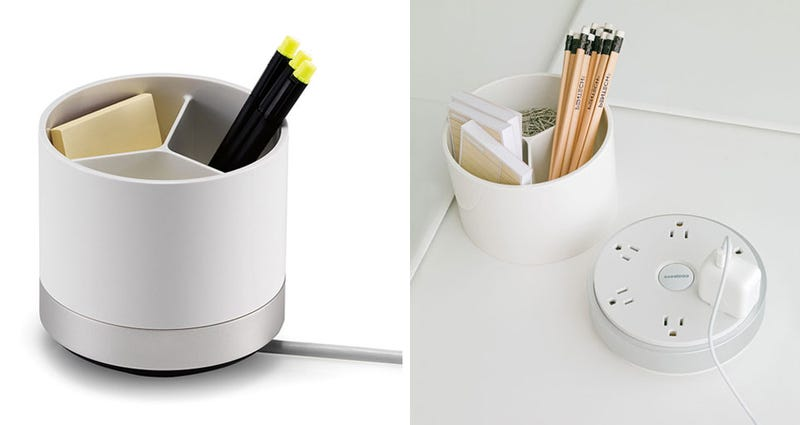 Illustration for article titled Pencil Holder Disguises Six Available Charging Sockets