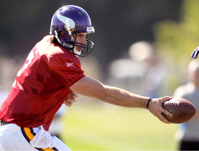 Illustration for article titled Breaking: Christian Ponder Limited In Practice By Christian Ponder