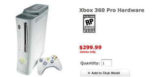 Illustration for article titled Xbox 360 Pro Hits $299 at Target