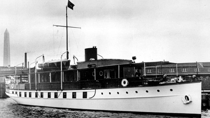 In this March 3, 1932, file photo, the USS Sequoia is viewed in Washington, D.C. An investment group with ties to a wealthy industrialist family in India can take ownership of the former U.S. presidential yacht Sequoia with no payment to its current owner, a Delaware judge ruled Monday, Nov. 14, 2016. Photo via AP Images.