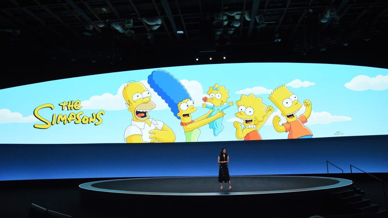 Yeah, that doesn't look right, either: A photo from the Disney+ presentation at The Walt Disney Company's Investor Day