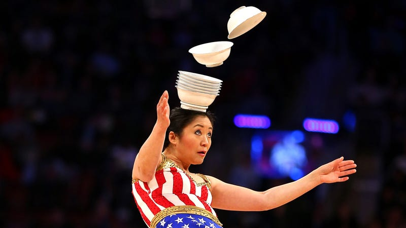 Red Panda performs at the 2016 NBA All-Star Game. (Photo: Elsa/Getty Images)