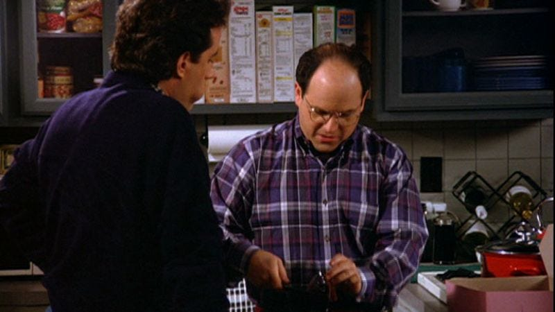 """Illustration for article titled Seinfeld: """"The Conversion""""/""""The Stall"""""""