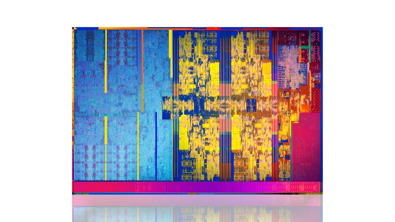 Kaby Lake R processor dye. (All images: Intel)