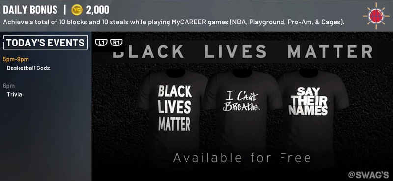 nba 2k20 black lives matter