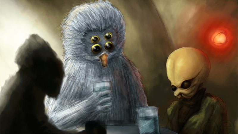 Illustration for article titled 10 Science Fictional Bars We'd Like to Visit