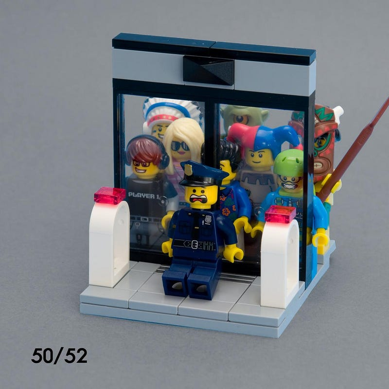 Illustration for article titled 52 weeks of Lego vignettes show a very weird 2014