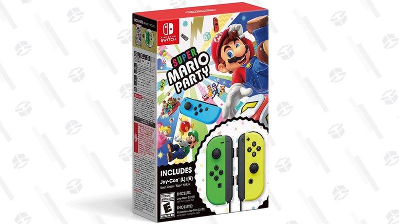 Super Mario Party + Green and Yellow Joy-Con | $100 | Walmart
