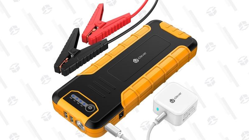Batería iClever USB-C PD con arranque para el coche   $68   Amazon   Usa el código ICLEVER888