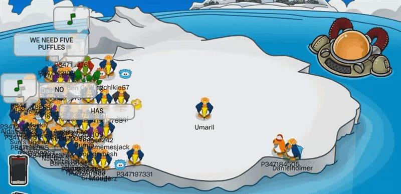 Club Penguin Island Flip The Iceberg