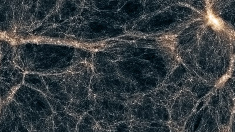 The cosmic web: is there another force of nature still waiting to be found? (image: Maureen Teyssier, Rutgers University; Andrew Pontzen, University College London)