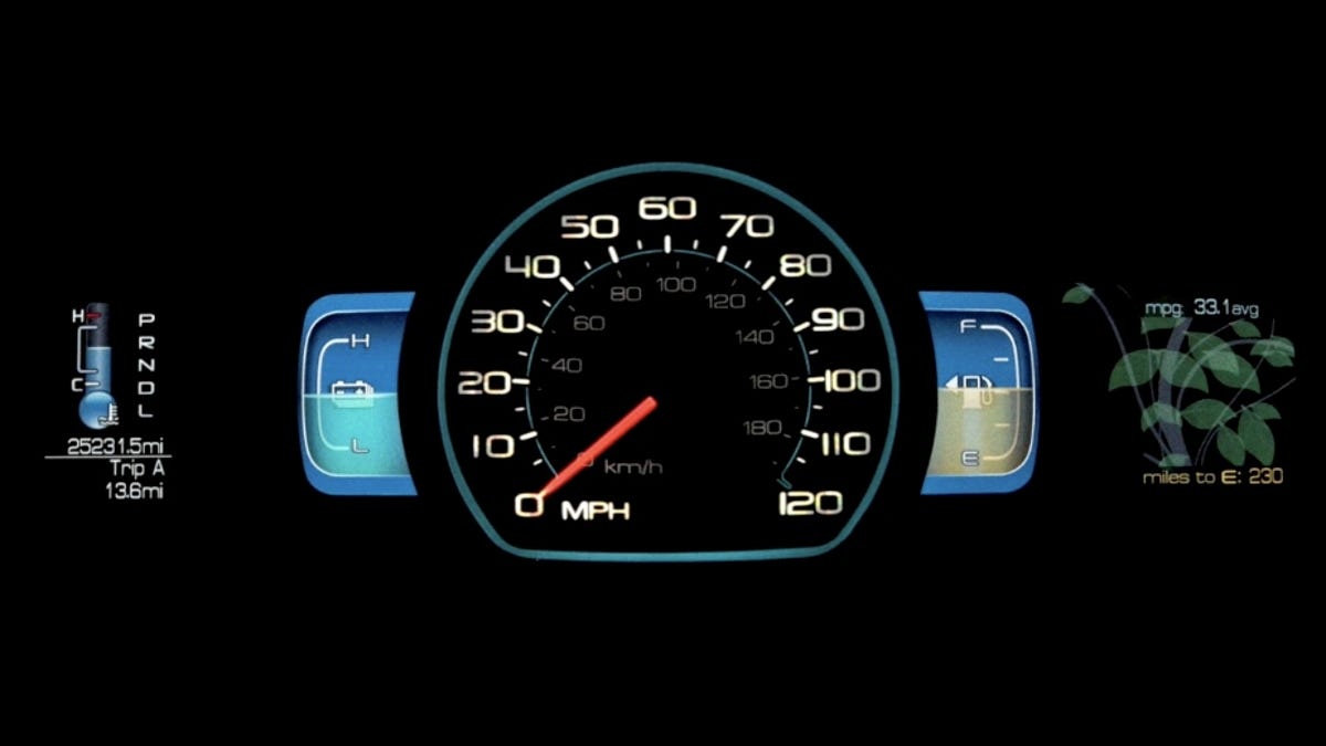Ford SmartGauge LCD Instrument Panel Brings Futuristic Look, Green