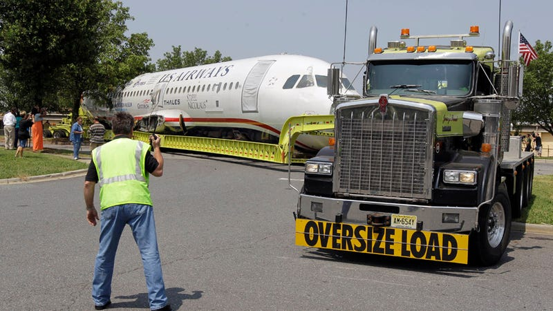 """Illustration for article titled """"Miracle on the Hudson"""" plane gets stuck inside of Jersey"""