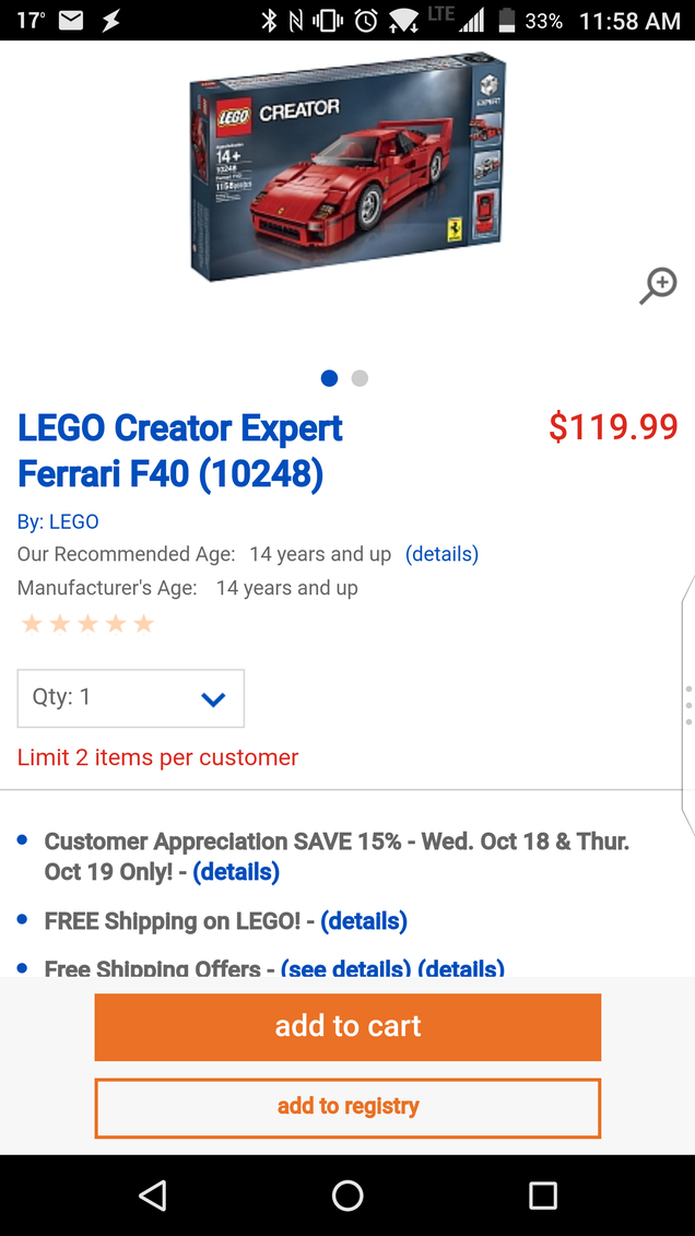 Came to $101.99 after discount.