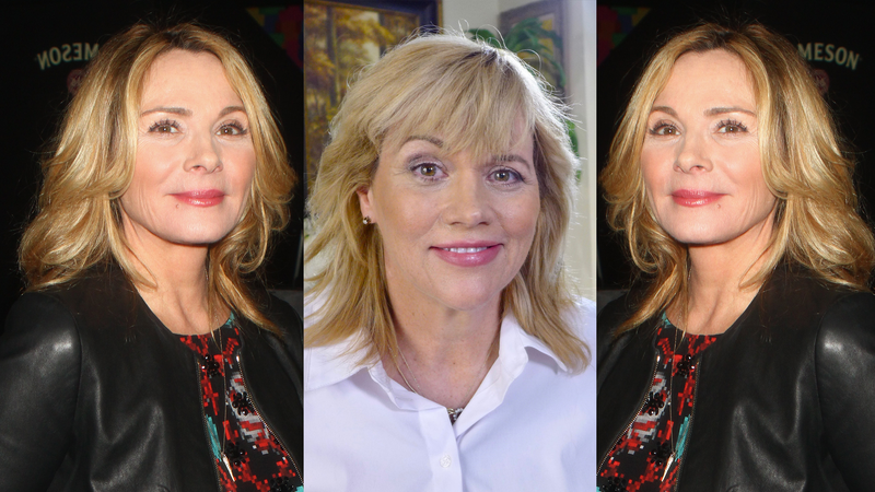 From left to right: Kim Cattrall, with her left and right side reversed; Samantha Markle; regular Kim Cattrall