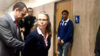 Video captured San Francisco Deputy Public Defender Jami Tillotson being arrested after she asked a police officer not to question or take photos of her clientABC 7 News screenshot