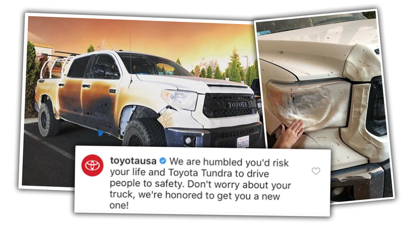 Illustration for article titled Nurse Who Cooked His Truck to Help California Wildfire Victims Getting New Truck From Toyota