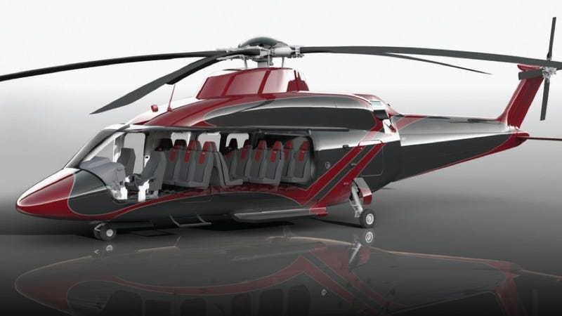 Illustration for article titled This Giant New Helicopter Is Like A Greyhound Bus For The Sky