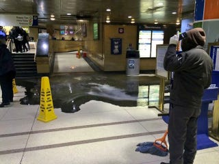 Train Station Invaded By Substance That Probably Came From