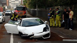 Illustration for article titled Down under Lamborghini test drive somewhat predictably ends in destruction