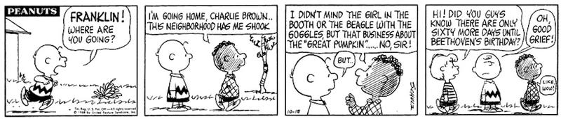 Charlie Brown Christmas Racist.Franklin Broke Peanuts Color Barrier In The Least