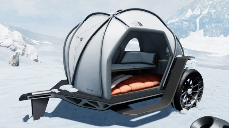 Illustration for article titled BMW Teamed With The North Face to Make a Tent With Tweels