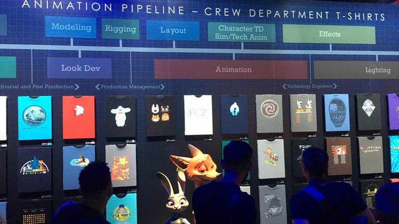 Some of the coolest t-shirts at D23 were not for sale. Image: Germain Lussier/Gizmodo