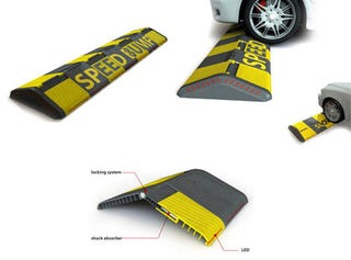 Illustration for article titled Smart Speed Bump Flattens When You're Driving Slow