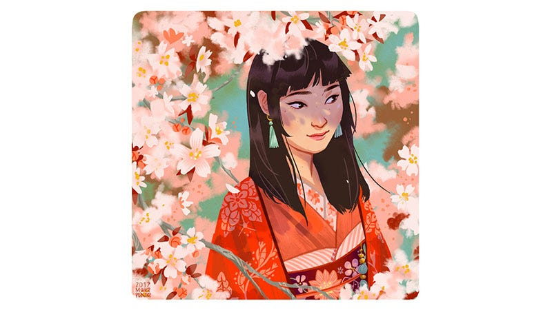 Illustration for article titled The Girl Among The Cherry Blossoms