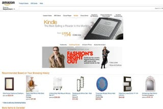 Illustration for article titled Amazon Is Testing a Tablet-Focused Web Site Redesign