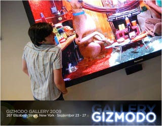Illustration for article titled At Gizmodo Gallery 2009: Return of the Monstrous 103-Inch Panasonic Plasma TV