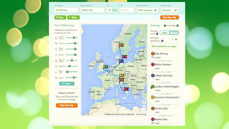 RoutePerfect Plans Your Dream European Trip – Site That Plans Trip For You