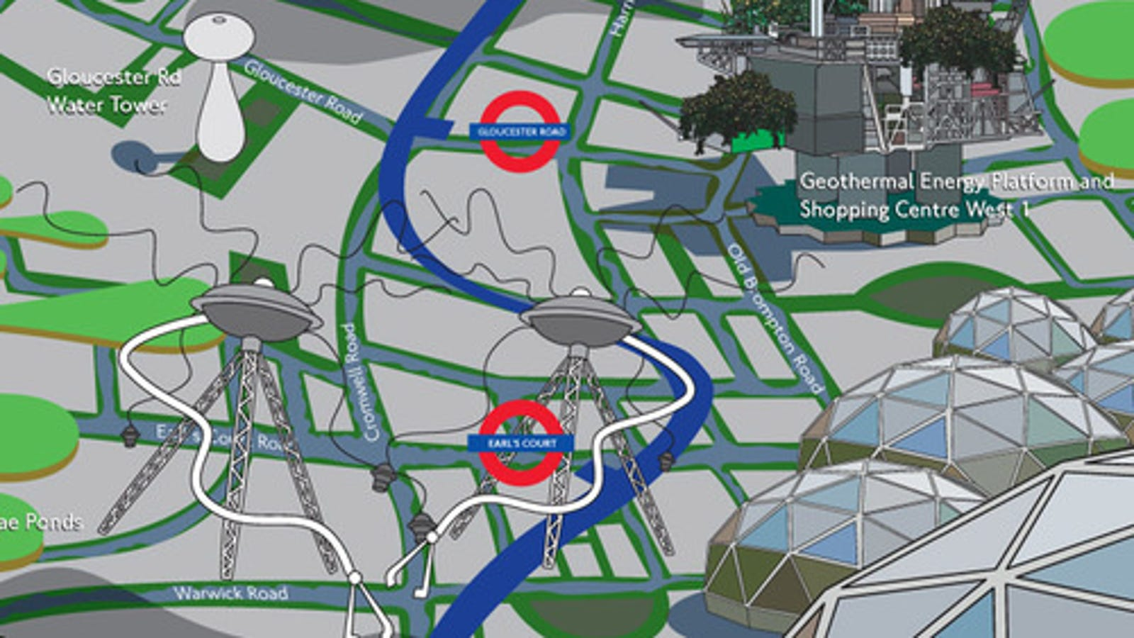 London City Tourist Map.A 2050 Tourist Map Of The Picadilly Line In London