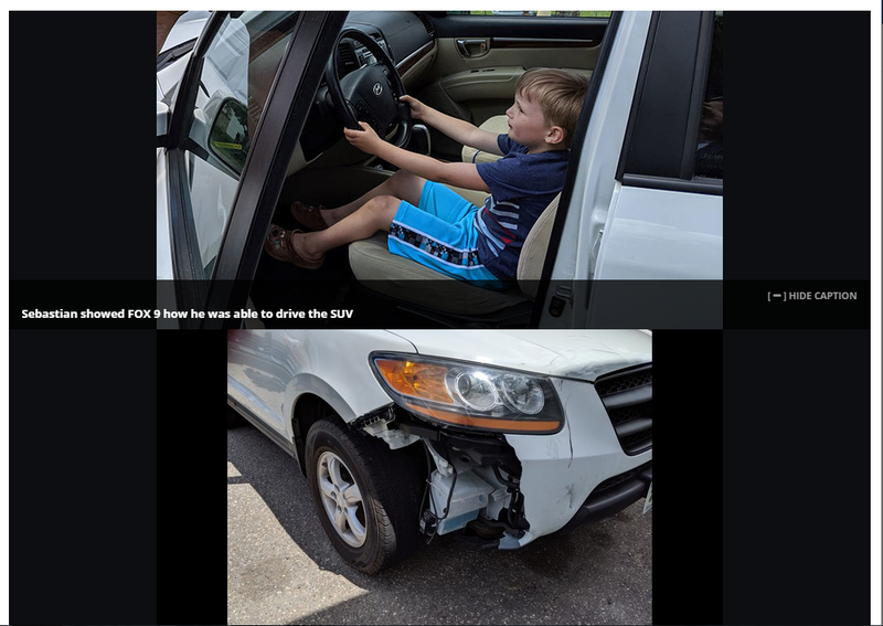 Illustration for article titled Boy, 4, takes great-grandfather's SUV on cruise for candy in Minnesota