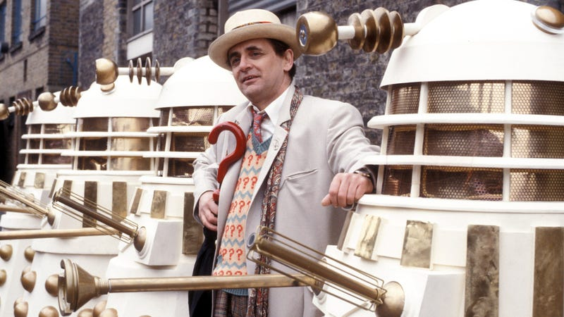 Sylvester McCoy with some Imperial friends.