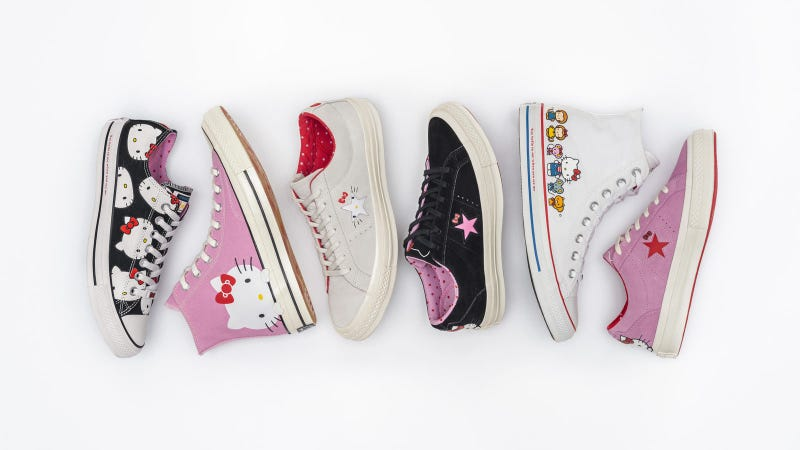 Illustration for article titled Converse Releasing Official Hello Kitty Sneakers