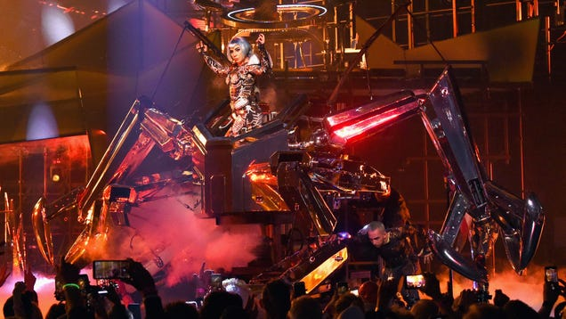 Lady Gaga has a giant robot now, in case you were worried being a movie star might have changed her