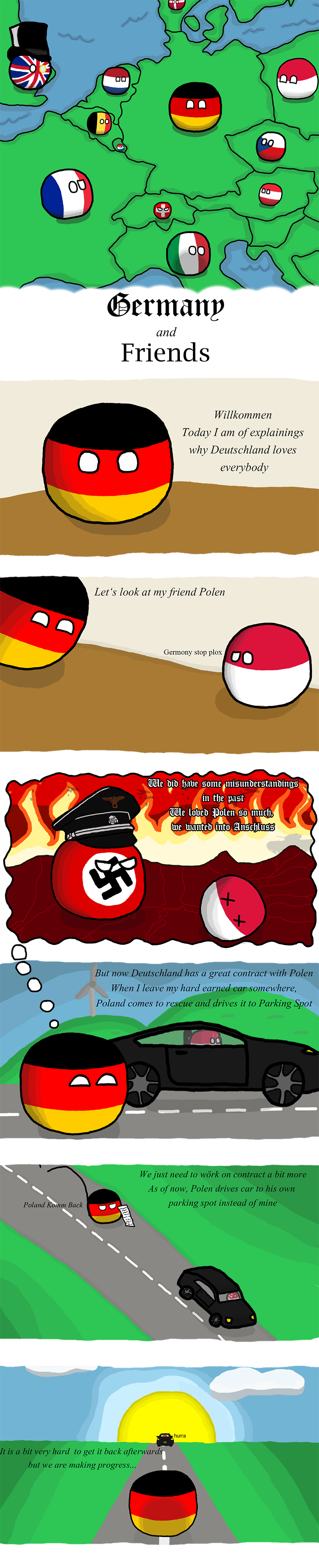 Illustration for article titled Daily Polandball: Germany and Friends.