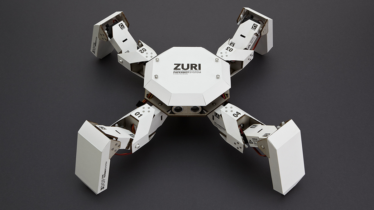 Do Want: A Modular, Programmable Robot Made Of Paper And Cardboard
