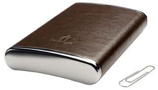 Illustration for article titled Iomega Introduces Leather 250GB Hip Flask, Er, eGo Drive