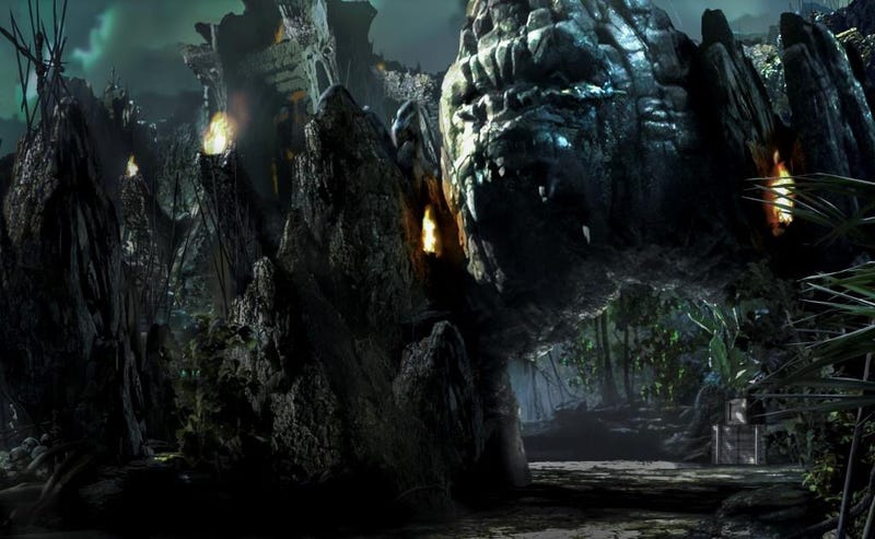 Illustration for article titled Concept Art Gives Us the First Glimpse of Universal's New King Kong Ride