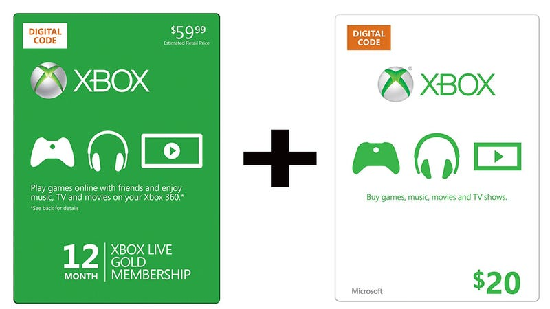 Illustration for article titled Buy A Year Of LIVE Gold, Get A $20 Xbox Gift Card