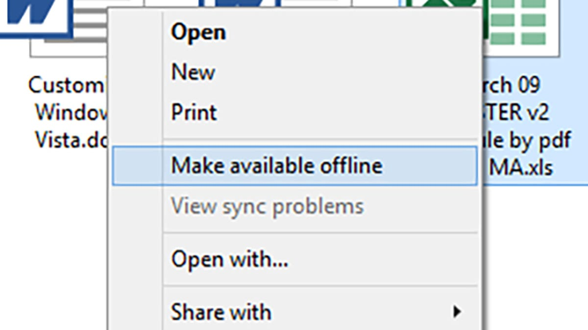 Make Sure All Your OneDrive Files are Synced for Offline Access