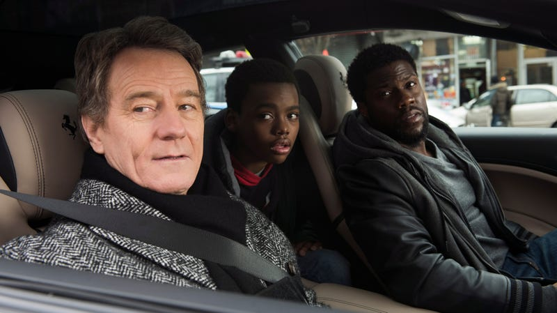 Illustration for article titled Kevin Hart helps Bryan Cranston loosen up in the pandering remake The Upside