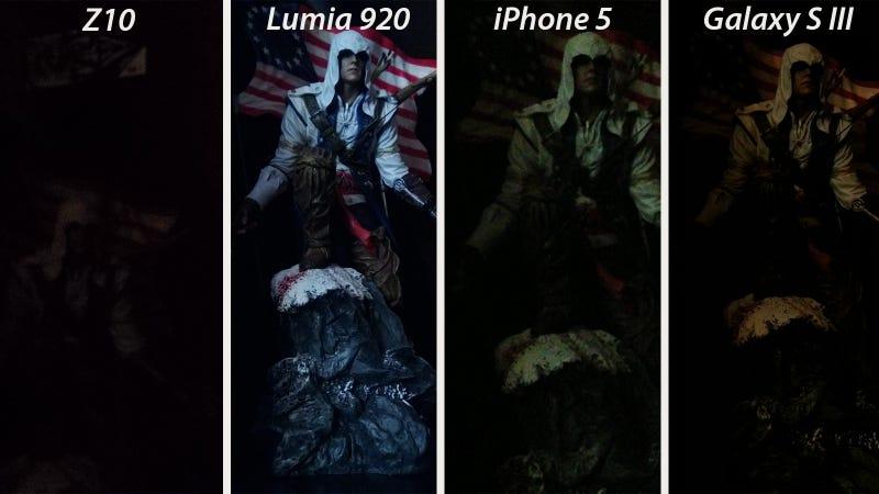 Illustration for article titled La cámara del nuevo BlackBerry Z10 es pésima en situaciones de poca luz