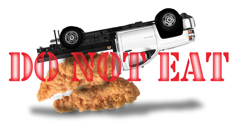 Illustration for article titled Police Are Telling Motorists Not to Stop and Eat Chicken Tenders Spilled on Highway But They Have to Say That