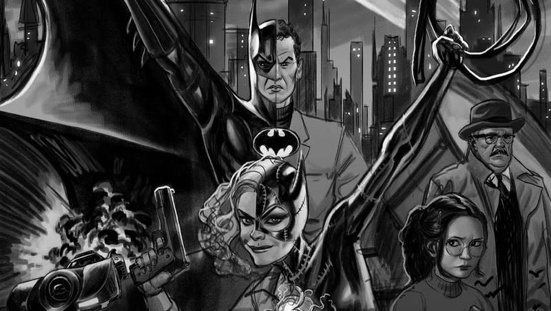 Illustration for article titled Rejected Batman '89 Comic Would've Revived Tim Burton's Weirdo Dark Knight
